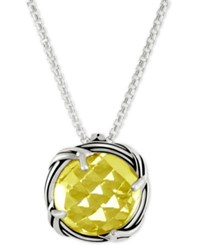 Peter Thomas Roth Lemon Citrine Adjustable Pendant Necklace 4 Ct. T.W. In Sterling Silver Yellow