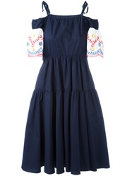 I'm Isola Marras Embroidered Dress Blue