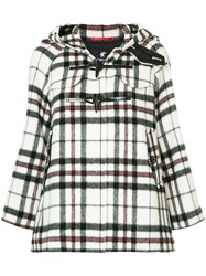 Loveless Checked Oversized Coat Acrylic Polyester Lambs Wool White