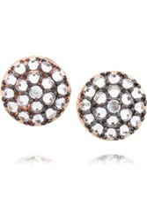 Katie Rowland Rose Gold Plated Silver Quarz Earrings Metallic