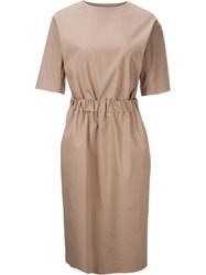 En Route Cinched Waist Dress Nude And Neutrals