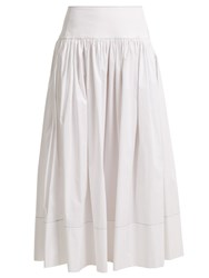 Elizabeth And James Shirley Cotton Blend Skirt White