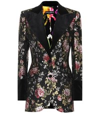 Dolce And Gabbana Floral Jacquard Jacket Multicoloured