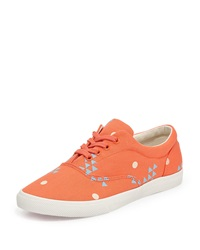 Bucketfeet Sun Canvas Lace Up Sneaker Coral