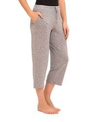 Ellen Tracy Yours To Love Cropped Pants Grey Dot