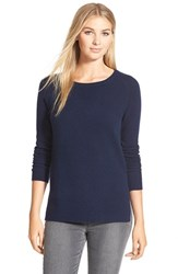 Petite Women's Halogen Crewneck Lightweight Cashmere Sweater