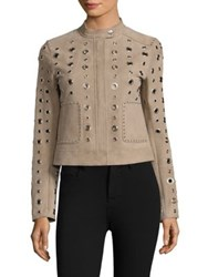 Dawn Levy Stacy Suede Jacket Steel