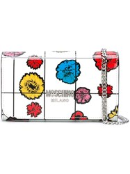 Moschino Floral Print Chain Wallet White