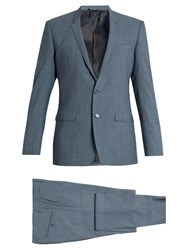 Dolce And Gabbana Gold Fit Stretch Wool Suit Light Blue