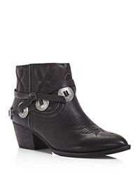 Dolce Vita Skye Pointed Toe Booties Black Silver