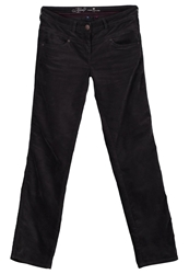 Tom Tailor Alexa Trousers Dark Charcoal Grey Anthracite