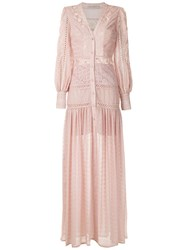 Martha Medeiros Long Shirt Dress Pink