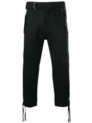 Ktz Belted Cropped Trousers Black