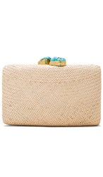 Kayu Jen Clutch In Neutral. Toast And Turquoise