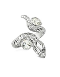 Just Cavalli Silver Snake Women's Ring
