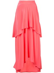 Sies Marjan Layered Ruffle Skirt Silk Pink Purple