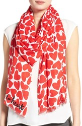 Kate Spade Women's New York Heart To Heart Scarf