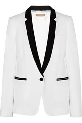 Michael Kors Two Tone Crepe Blazer White