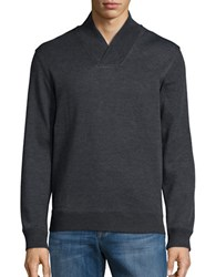 Perry Ellis Textured Cotton Blend Sweater Charcoal