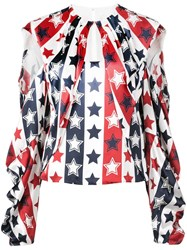 Hellessy Stars And Stripes Blouse White
