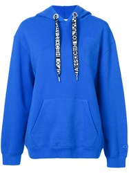Proenza Schouler Pswl Hooded Sweatshirt Blue
