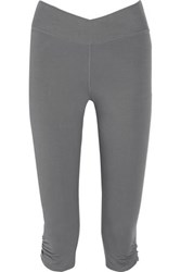 Yummie Tummie Candace Stretch Cotton Blend Cropped Pants Gray