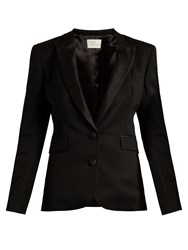 Hillier Bartley Barathea Wool And Silk Blend Tuxedo Jacket Black