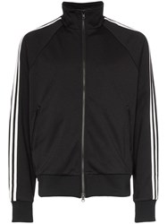 Y 3 Triple Stripe High Neck Track Jacket Black