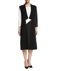 Joan Vass Milano Long Vest Black