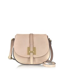 Le Parmentier Handbags Pollia Powder Leather And Suede Crossbody Bag