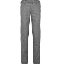 Incotex Slim Fit Houndstooth Wool Trousers Cream
