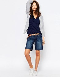 Esprit Denim Short Blue Dark Wash