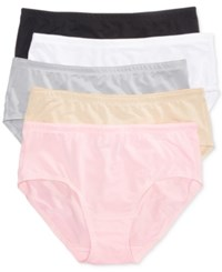Fruit Of The Loom 5 Pk. Low Rise Mesh Brief 5Dpblb1 Feather Grey Kitty Pink Damask White Black