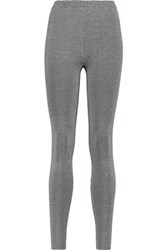 Alexander Wang T By Stretch Knit Leggings Gray