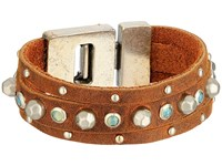 Leather Rock B519 Tobacco Bracelet Brown