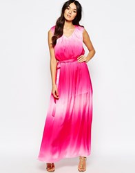 Traffic People Demi Maxi Dress In Faded Pink Pink