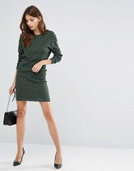 Y.A.S Ginger Knit Skirt Co Ord Garden Topiary Green