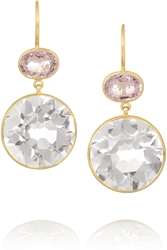 Munnu 22 Karat Gold Amethyst And Spinel Earrings
