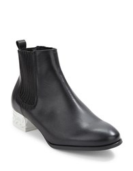 Miista Ashlynn Leather Ankle Boots Black White