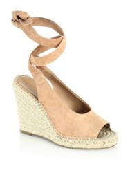 Joie Kael Suede Espadrille Wedges Black Pesca