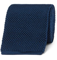Tom Ford 8Cm Knitted Silk Tie Blue