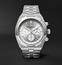 Vacheron Constantin Overseas Automatic Chronograph 42.5Mm Stainless Steel Watch Silver