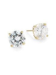 Saks Fifth Avenue Prong Set Round Stud Earrings Goldtone