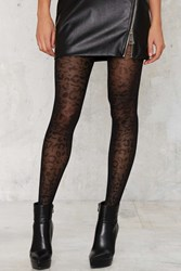 Nasty Gal Leopard Knock Life Sheer Tights