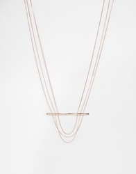 Weekday Stick Necklace Rosegold