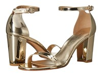 Stuart Weitzman Nearlynude Pale Gold Glass Women's Shoes