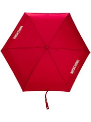 Moschino Couture Print Umbrella Red