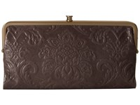 Hobo Lauren Diamond Embossed Granite Clutch Handbags Brown