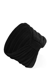 Forever 21 Knit Ruched Bow Headwrap Black