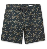 Outerknown Evolution Long Length Printed Swim Shorts Navy